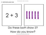 Math Talk Discussion Cards and Google Slides Kindergarten,