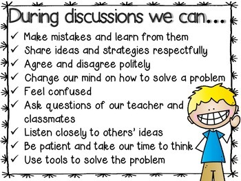 Math Talk Discussion Posters