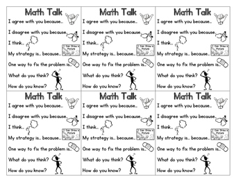 Math Talk/Discussion Prompt Cards