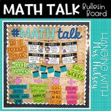 Math Talk: Editable Bulletin Board Kit