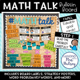 Math Talk: Editable Bulletin Board Kit Bundle