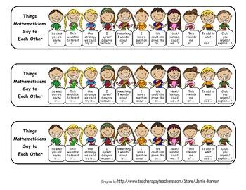 Math Talk - Elementary Version