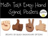 Math Talk Emoji Hand Signal Posters