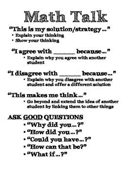 Math Talk Expectations