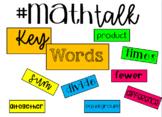 Math Talk KEY WORDS Bulletin Board