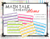 Math Talk Mathematical Discourse Sentence Stem Posters
