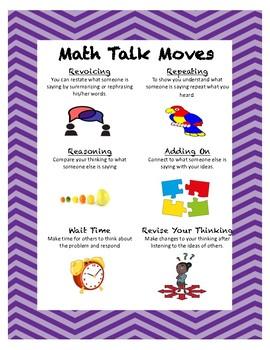 Math Talk Moves Poster