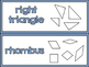 geometry vicabulary cards 3-5
