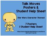 Math Talk Moves Posters & Help Sheet - Accountable Talk - Star Wars Themed