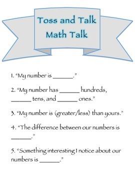 Math Talk Number Sense 1-120