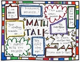 Math Talk/Number Talk/Talking about Math Sentence Starter Poster