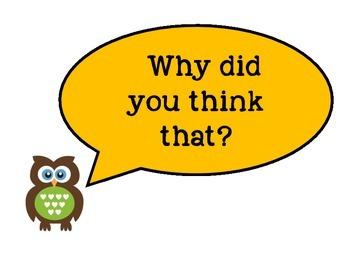 Math Talk Owl Posters