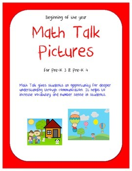 Math Talk Pictures: Beginning of the Year