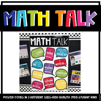Math Talk Poster and Student Prompts