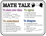 Math Talk Poster or Handout
