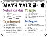 Math Talk Poster or Handout