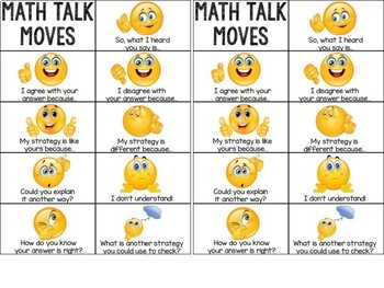 Math Talk Moves Poster Set