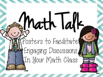 Math Talk Posters to Teach Literacy