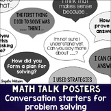 Math Talk Posters: Student conversation starters for probl