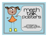 Math Talk Sentence Starter Posters and Bookmarks