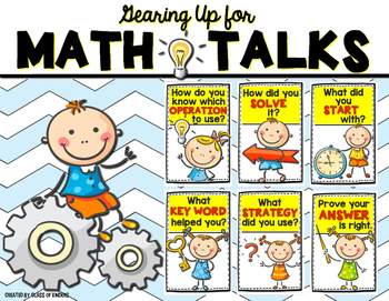 Math Talk Posters for Kindergarten and First Grade