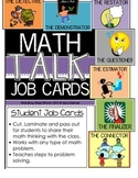Math Talk Problem Solving Job Cards for Students