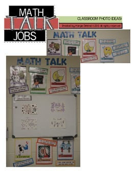 Math Talk Problem Solving Jobs Classroom Bulletin Board Signage