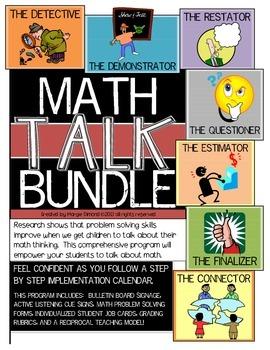 Math Talk Problem Solving Jobs for Students BUNDLE