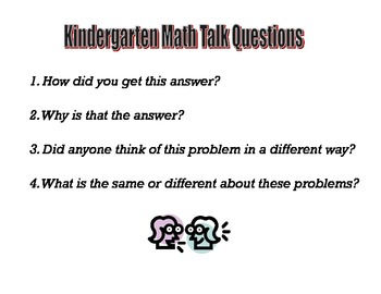 Math Talk Question Posters