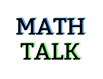 Math Talk Questions