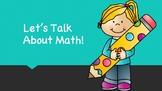 Math Talk Reflection Discussion prompts Smart board / Promethean