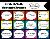 Math Talk Sentence Frame Conversation Bubbles