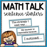 Math Talk Sentence Starter Cards