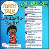 Math Talk Sentence Starters • Math Talk Posters