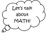 Math Talk - Sentence Stems