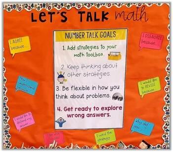 Math Talk Sentence Stems - Number Talks