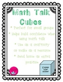 Math Talk Sentence Stems and Retelling Cubes
