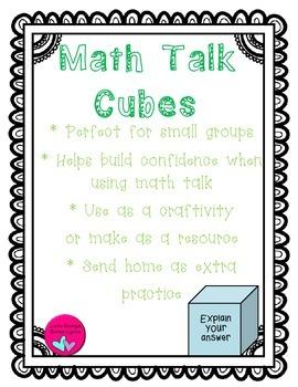 Math Talk Sentence Stems and Retelling Cubes