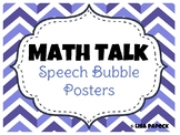 Math Talk Speech Bubble Posters