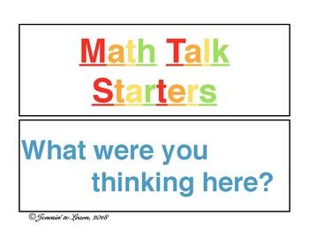 Math Talk Starters Display
