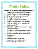 Math Talk Thinking Stems