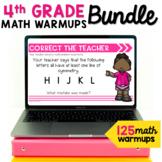 Math Talk Warmup Bundle