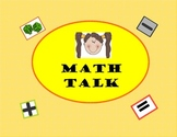 Math Talk Word Vocab