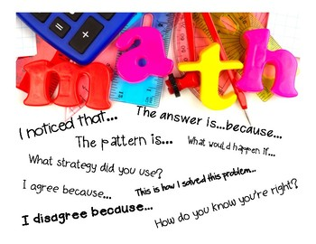 Math Talk and Discussion Stem [Posters]