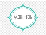 Math Talk grey and aqua