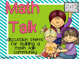 Math Talk...Discussion Stems for a Math Talk Community
