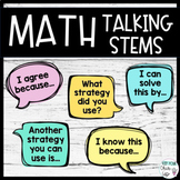Math Talking Stems