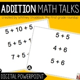 Digital Math Talks On Addition