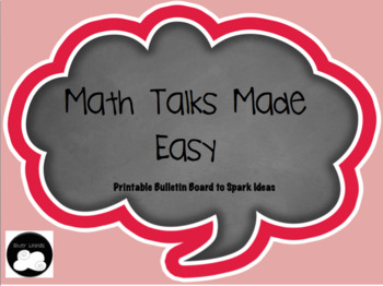 Math Talks Bulletin Board Printable