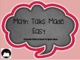 Math Talks Bulletin Board Printable